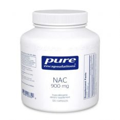 NAC (N-Acetyl-l-Cysteine) 900 mg. 120s Pure encapsulations UK
