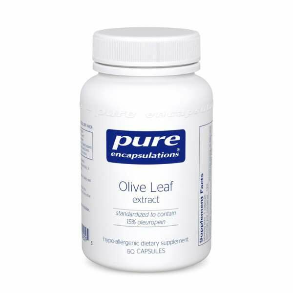 Olive Leaf 60sPure encapsulations UK