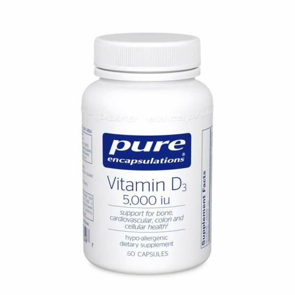 Vitamin D3 5,000 i.u. 60s Pure encapsulations UK