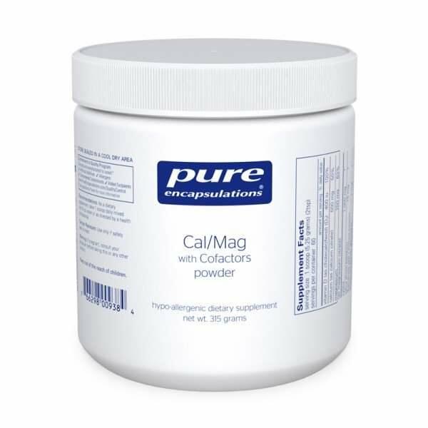 Cal/Mag w/ Cofactors powder pure encapsulations uk