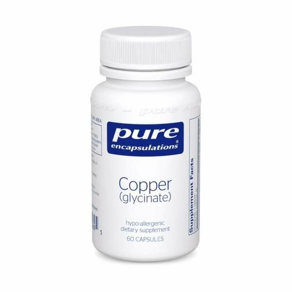 Copper (Glycinate) 60s pure encapsulations uk