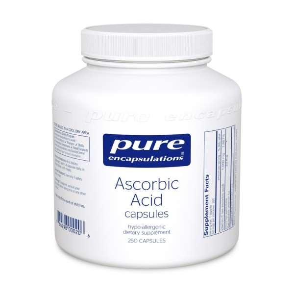 Ascorbic Acid capsules 250s pure encapsulations uk