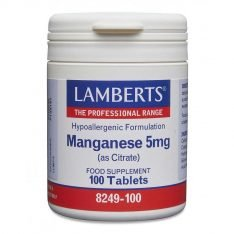 Manganese 5mg (as Citrate) lamberts healthcare uk