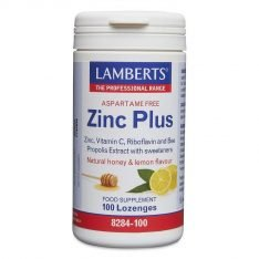 Zinc Plus Lozenges lamberts healthcare uk