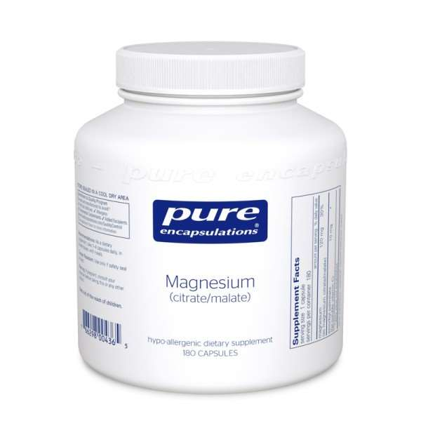 Magnesium (citrate/malate) pure encapsulations uk