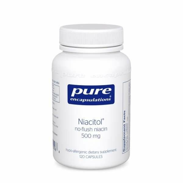 Niacitol® (no-flush niacin) 500 mg pure encapsulations